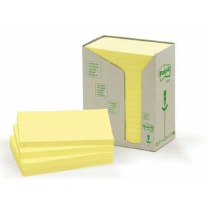 Post-it viestilapputorni eko 76 x 127mm, keltainen, myyntierä 1 pkt = 16 nidettä