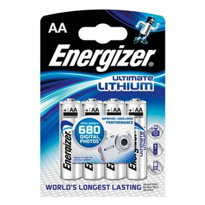 Energizer Ultimate AA/LR6 litiumparisto, 1 kpl = 4 paristoa