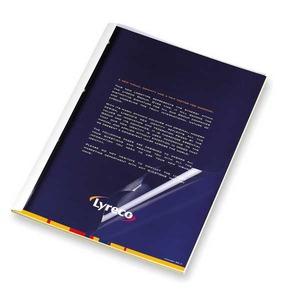 Pavo liimasidontakansi A4 1,5mm, kirkas/valkoinen, myyntierä 1 kpl= 100 kantta
