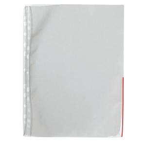 Signaalitasku A4 PP 110 mic, punainen, myyntierä 1 kpl = 100 taskua