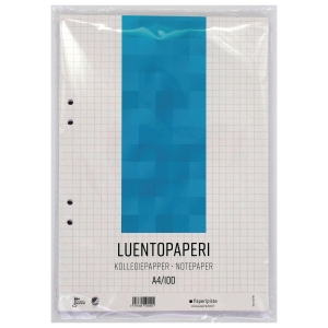 Luentopaperi A4 8-12 100 arkkia, 7 x 7mm ruuduilla, 1 kpl = 100 arkkia