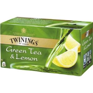 Twinings vihreä sitruunatee, myyntierä 1 kpl = 25 pussia
