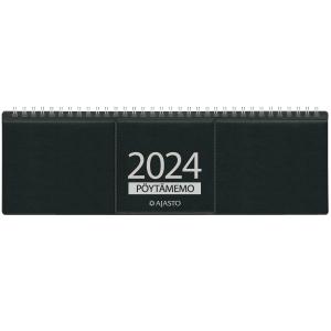 Ajasto Pöytämemo pöytäkalenteri 305 x 90 mm, musta