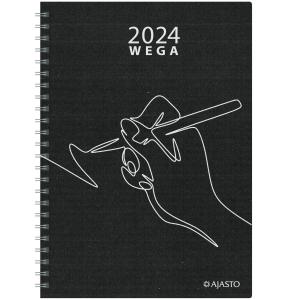 Ajasto Wega Eko pöytäkalenteri A5, musta