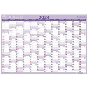 Ajasto Seinämuistio seinäkalenteri 2020 850 x 590mm