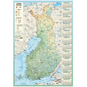 Ajasto Karttakalenteri seinäkalenteri 2020 590 x 850 mm