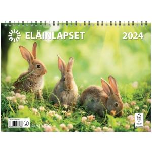 Ajasto Eläinlapset seinäkalenteri 290 x 420 mm
