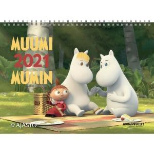 Ajasto Muumi seinäkalenteri 2020 290 x 420 mm