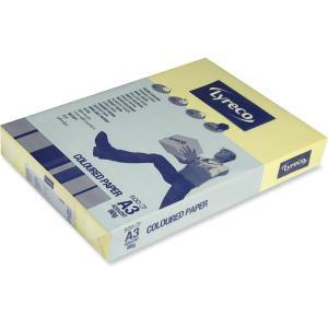 Lyreco väripaperi A3 80g vaaleankeltainen, 1 kpl = 500 arkkia