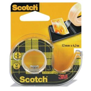 Scotch 136 kaksipuolinen teippi katkojalla, 12mm x 6 m