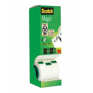 Scotch 810 Magic teippi 19mm x 33m, myyntierä 1 kpl = 8 rullaa