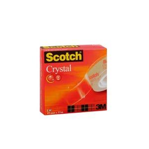 Scotch 600 Crystal teippi, 19mm x 33m, myyntierä 1 kpl = 8 rullaa