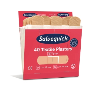 Salvequick 6444 kangaslaastari refill, myyntierä 1 kpl = 6 x 40 laastaria