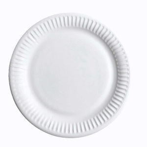 Huhtamäki Econo kartonkilautanen 15 cm valkoinen, myyntierä 1 kpl = 100 lautasta