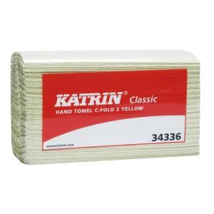 Katrin käsipyyhe C-taitto, keltainen, myyntierä 1 kpl = 16 pakettia