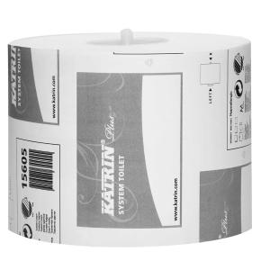 Katrin Plus System wc-paperi 2-kertainen valkoinen, myyntierä 1 kpl = 36 rll