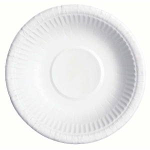 Huhtamäki kartonkilautanen syvä 20 cm valkoinen , myyntierä 1 kpl =  50 lautasta