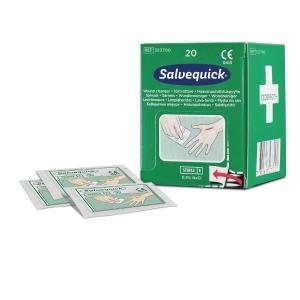 Salvequick 3237 haavapyyhetäydennys,  myyntierä 1 kpl = 20 haavapyyhettä