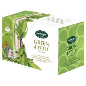 Nordqvist Green 4 You vihreä tee, myyntierä 1 kpl = 20 pussia