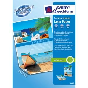 Avery premium laser valokuvapaperi A4 200g glossy, 1 kpl = 100 arkkia