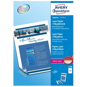 Avery superior laser valokuvapaperi A4 170g glossy, 1 kpl = 200 arkkia