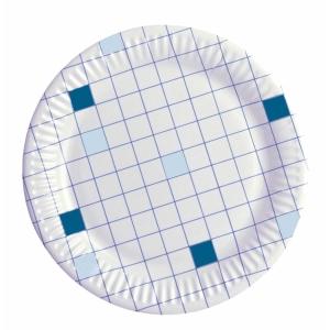 Huhtamäki kartonkilautanen 18 cm ruutu, myyntierä 1 kpl = 100 lautasta