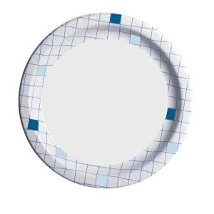 Huhtamäki kartonkilautanen 22 cm ruutu, myyntierä 1 kpl =  50 lautasta