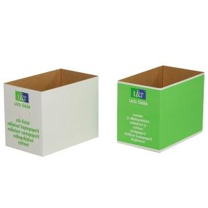 Paperinkeräyslaatikko pahvia, valkoinen
