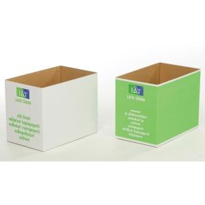 Paperinkeräyslaatikko pahvia, vihreä