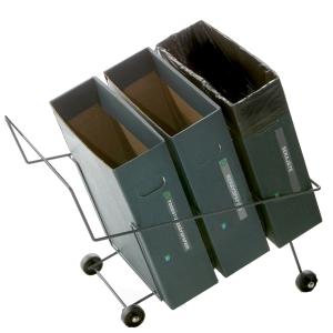 Lajitteluroskakoriteline+3 x 17 litran pahvilaatikkoa, mitat: 36,5 x 62 x 56 cm