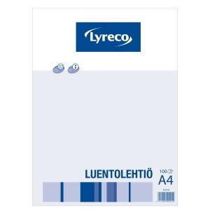 Lyreco luentolehtiö, A4/100 7 x 7mm ruuduilla, reijitys 8-12