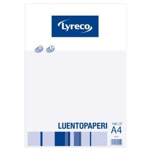 Lyreco luentopaperi A4, rei itys 8-12, 7 x 7 ruuduilla, 1 kpl = 100 arkkia