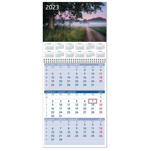 CC 5110 Triplanner pieni seinäkalenteri 2020 232 x 325 mm