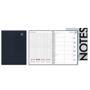 CC 2409 Uniplanner pöytäkalenteri A5, musta