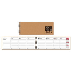 CC 3519 EkoPro pöytäkalenteri 255 x 95 mm, vihreä
