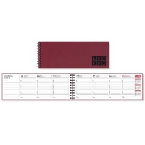 CC 3529 EkoPro pöytäkalenteri 255 x 95mm, punainen