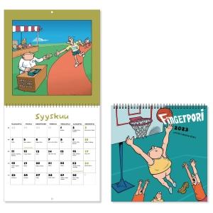 CC 5690 Fingerpori seinäkalenteri 2020 230 x 460 mm