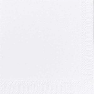 Duni lautasliina 33x33cm, 2-kertainen, valkoinen, myyntierä 1 kpl = 125 liinaa