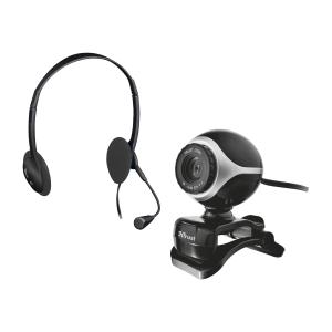 Trust Exis  chatpack kuulokkeet ja webkamera setti