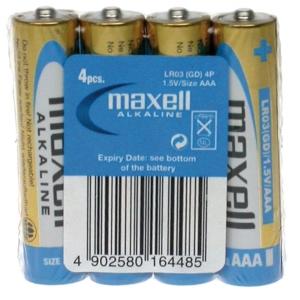Maxell Paristo shrink AA/LR6, 1kpl=4 paristoa