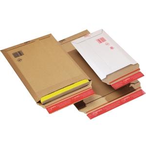 Kartonkikirjepussi A4, 235 x 310 x 30mm, valkoinen