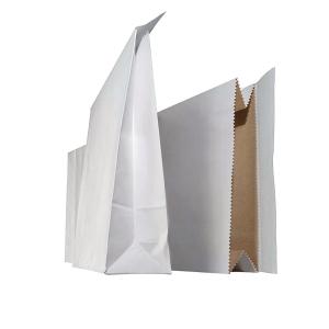 Näytepussi 220 x 430 x 60mm, tarrasuljenta, valkoinen