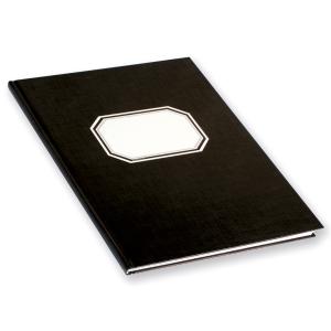 Konttorikirja 82422 B5/288, musta, 7 x 7mm ruuduilla, nidottu, kovakantinen