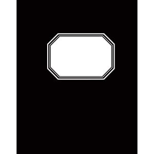 Konttorikirja A5/192, 7 x 7mm ruuduilla, musta