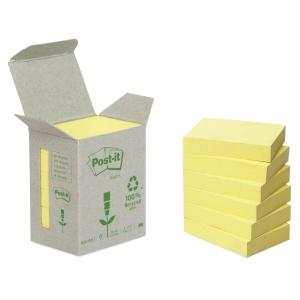 Post-it viestilaput eko 38 x 51mm, keltainen, myyntierä 1 kpl = 6 nidettä
