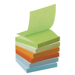 Post-it Z-Notes viestilaput eko 76 x 76mm, värilajitelma, 1 kpl = 6 nidettä