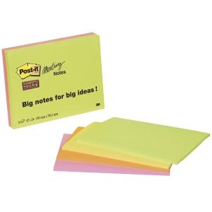 Post-it Super Sticky viestilaput A6, värilajitelma, myyntierä 1 pkt = 4 nidettä