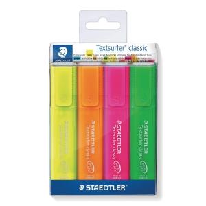 Staedtler Textsurfer Rainbow korostuskynä viisto 1-5mm , värilaj. me 1kpl=4kynää