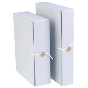 Arkistokotelo A4 4cm nappi/nauha pysyvään arkistointiin