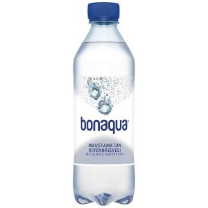 Bonaqua kivennäisvesi 0,5 litraa, me 1 kpl = 24 pulloa
